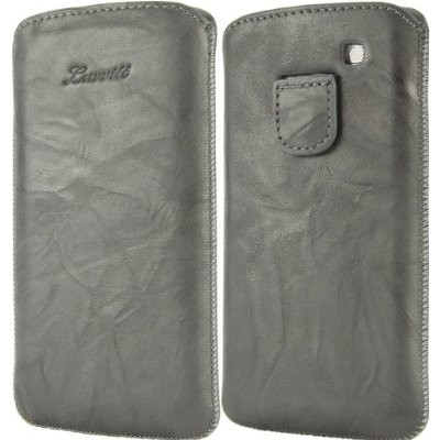 LUVVITT Genuine Leather Pouch for Samsung Galaxy S3 SIII - Gray