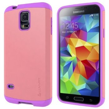 LUVVITT ULTRA ARMOR Galaxy S5 Case | Double Layer Case - Pink / Purple