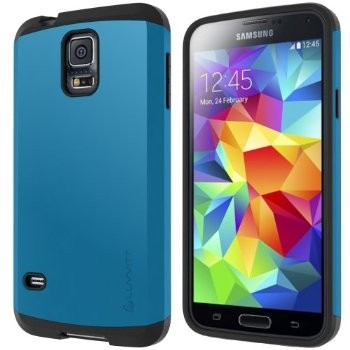 LUVVITT ULTRA ARMOR Galaxy S5 Case | Double Layer Shock Absorbing Case - Blue