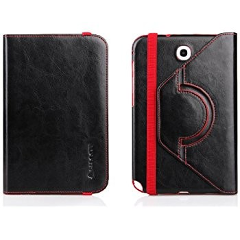 LUVVITT PRELUDE 360 Degree Swivel Case for Galaxy Note 8.0 - Black & Red