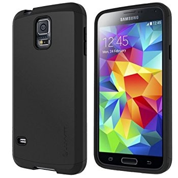LUVVITT ULTRA ARMOR Galaxy S5 Case | Double Layer Shock Absorbing Case - Black