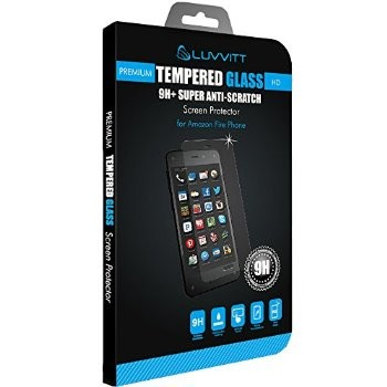 LUVVITT TEMPERED GLASS Screen Protector for Amazon Fire Phone - Crystal Clear
