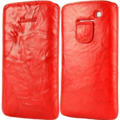 LUVVITT Genuine Leather Pouch for Samsung Galaxy S3 SIII - Red