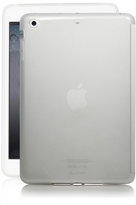 LUVVITT DOLCE Soft Skin TPU Back Cover for iPad Air 2 - Frosted Clear