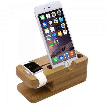 LUVVITT® Apple Watch Bamboo Wood Charging Stand / Docking Station (LUV-1033)