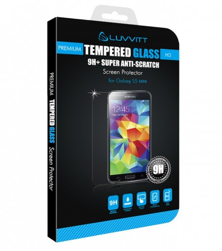 LUVVITT Galaxy S5 TEMPERED GLASS Screen Protector for Galaxy S5 MINI - Clear