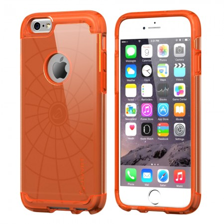 LUVVITT ULTRA ARMOR iPhone 6 / 6S Case | Dual Layer Back Cover - Neon Orange