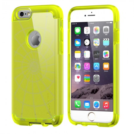 LUVVITT ULTRA ARMOR iPhone 6 / 6S Case | Dual Layer Back Cover - Neon Yellow