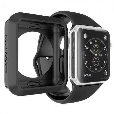 LUVVITT ULTRA ARMOR High Performance Flexible Apple Watch Case 42mm - Black