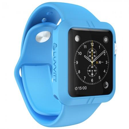 LUVVITT ULTRA ARMOR High Performance Flexible Apple Watch Case 42mm - Blue