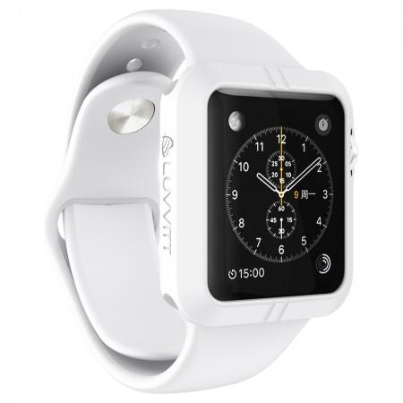 LUVVITT ULTRA ARMOR High Performance Flexible Apple Watch Case 42mm - White