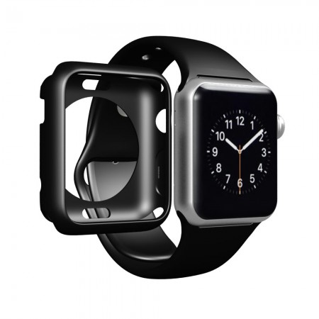 LUVVITT CLARITY Apple Watch Case 42mm - Black