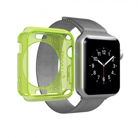 LUVVITT CLARITY Apple Watch Case 42mm - Neon Transparent Yellow