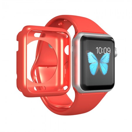 LUVVITT CLARITY Apple Watch Case 38mm - Apple Pink