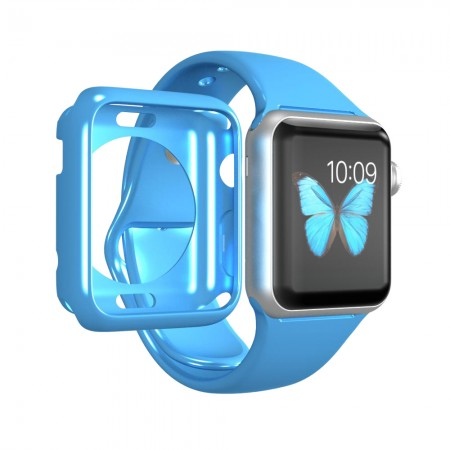 LUVVITT CLARITY Apple Watch Case 42mm - Blue