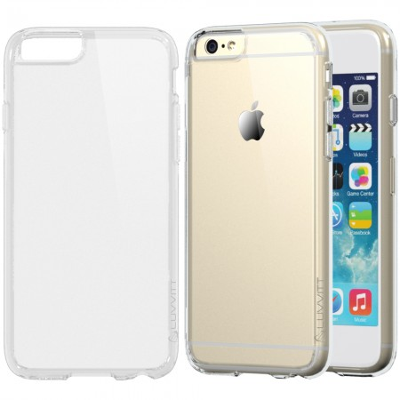 LUVVITT CLEARVIEW Case for iPhone 6S / 6 | Hybrid Back Cover - Crystal Clear