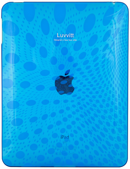 LUVVITT Candy Case - Limited Edition Clear TPU Case for Apple iPad 1 Blue