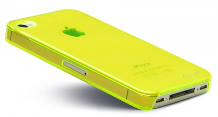 LUVVITT CRYSTAL VIEW UltraSlim Crystal Case for iPhone 4 & 4S - Yellow