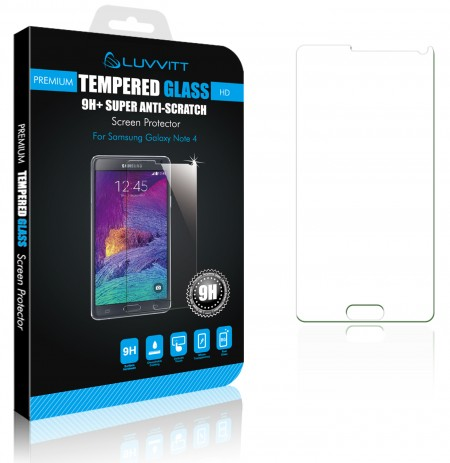 LUVVITTTEMPERED GLASS Screen Protector for Galaxy Note 4 - Clear