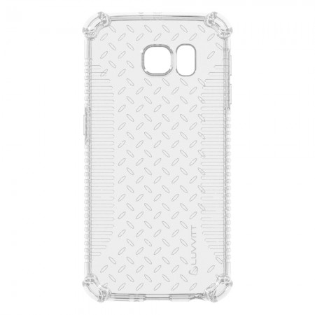 LUVVITT CLEAR GRIP Galaxy S6 Case | Slim Transparent TPU Rubber Case - Clear