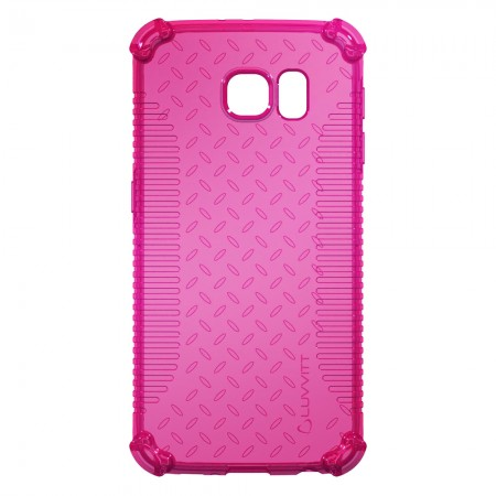 LUVVITT CLEAR GRIP Galaxy S6 EDGE Case | Slim Transparent TPU Case - Pink