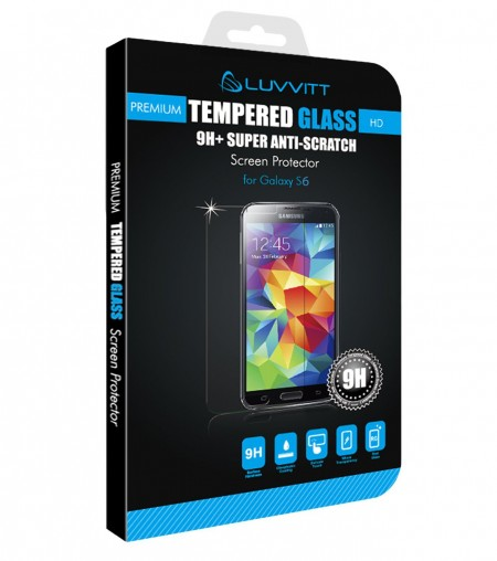 LUVVITT TEMPERED GLASS Screen Protector for Galaxy S6 - Crystal Clear