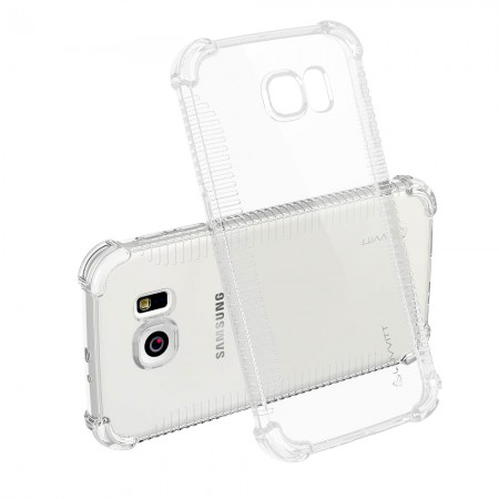 LUVVITT CLEAR GRIP Galaxy S7 PLUS Case Slim Transparent TPU Rubber Case - Clear