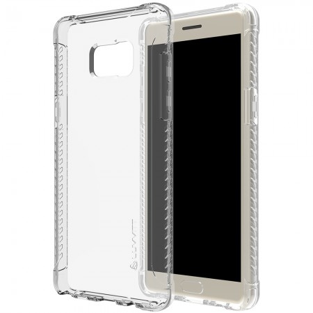 LUVVITT CLEAR GRIP Galaxy Note 7 Case Soft TPU Rubber Back Cover - Crystal Clear