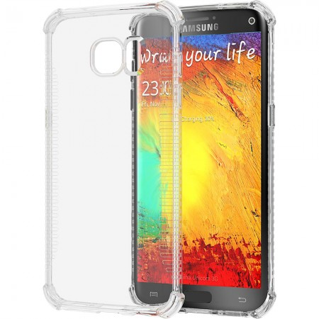 LUVVITT CLEAR GRIP Galaxy S7 Edge Case Slim Transparent TPU Rubber Case - Clear