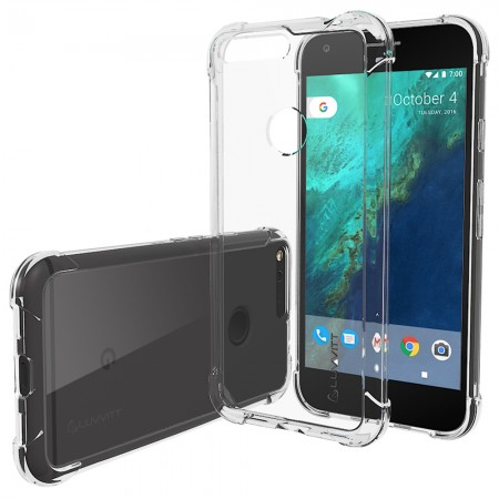 LUVVITT CLEARVIEW Case for Google Pixel | Hybrid Back Cover - Crystal Clear