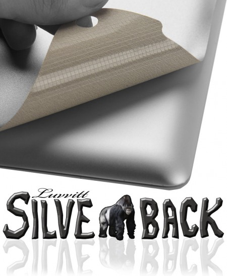 LUVVITT SILVERBACK Skin for the new iPad 4/3/2 - Comp. w/Smart Cover - Silver