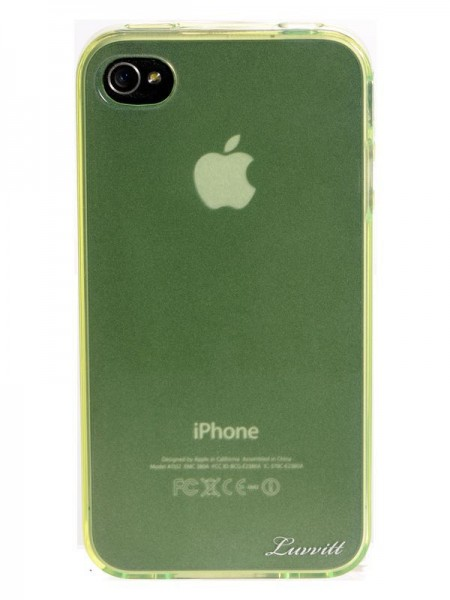 LUVVITT ICE Thermoplastic Soft Case for iPhone 4 & 4S - Transparent Lite Green
