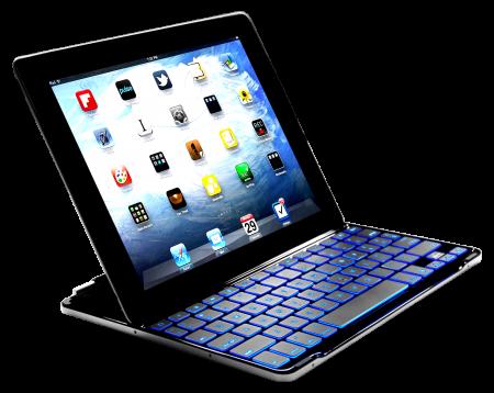 LUVVITT BACKLIT Ultrathin Keyboard Cover for the new iPad 4 / iPad 3 / iPad 2 - Black