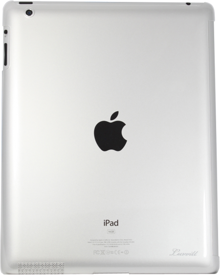 LUVVITT  CRYSTAL VIEW - World's Slimmest Hard Shell  Back Cover for iPad 4/3/2 - Clear