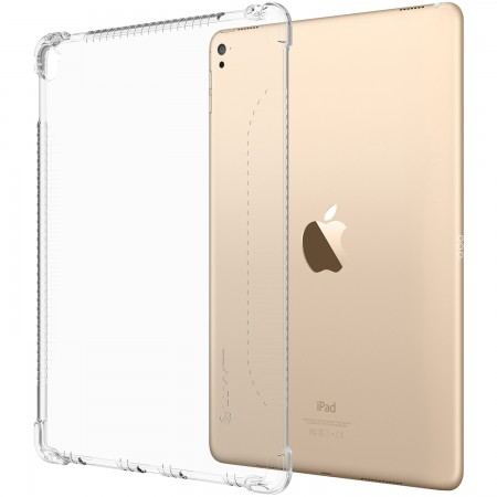 LUVVITT CLEAR GRIP Soft Skin TPU Rubber Back Cover for iPad Pro 9.7 inch - Clear