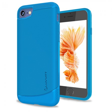 LUVVITT SLEEK ARMOR Case Shock Absorbing TPU Cover for iPhone 7 - Cobalt Blue