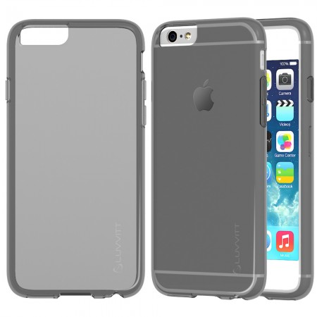 LUVVITT FROST iPhone 6 / 6s Case   Flexible TPU Rubber Back Cover - Transparent Black
