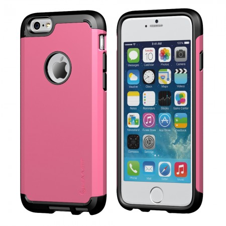LUVVITT ULTRA ARMOR iPhone 6 / 6S Case | Dual Layer Back Cover - Pink