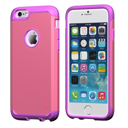 LUVVITT ULTRA ARMOR iPhone 6/6s PLUS Case Back Cover for iPhone 5.5- PurplePink