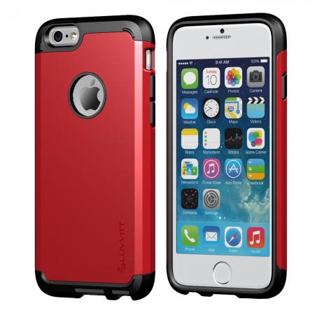 LUVVITT ULTRA ARMOR iPhone 6/6s PLUS Case | Back Cover for iPhone 5.5 in - Red
