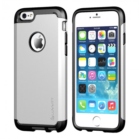 LUVVITT ULTRA ARMOR iPhone 6 / 6S Case | Dual Layer Back Cover - Silver