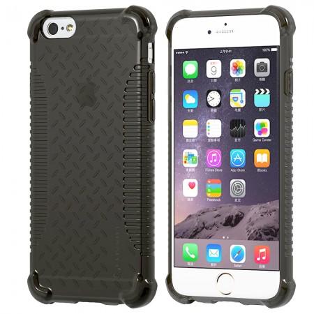 LUVVITT CLEAR GRIP iPhone 6S / 6 Case Soft TPU Rubber Back Cover - Black