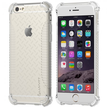 LUVVITT CLEAR GRIP iPhone 6S / 6 Case Soft TPU Rubber Back Cover Crystal Clear