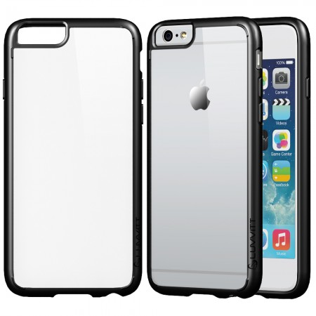 LUVVITT CLEARVIEW Case for iPhone 6/6s PLUS Back Cover for 5.5 inch Plus Black