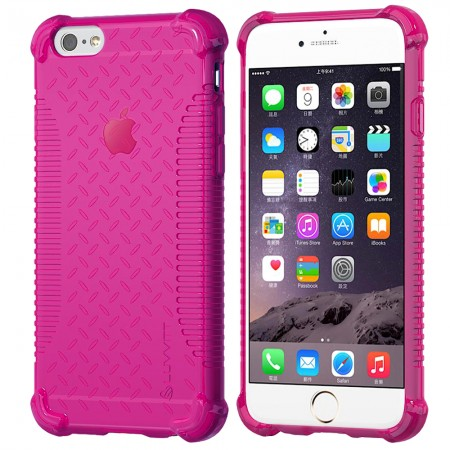 LUVVITT CLEAR GRIP iPhone 6S / 6 Case Soft TPU Rubber Back Cover -  Pink