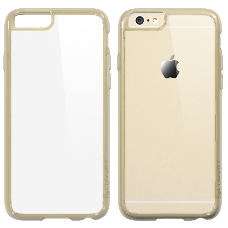 LUVVITT CLEARVIEW Case for iPhone 6/6s PLUS Back Cover for 5.5 inch Plus - Gold