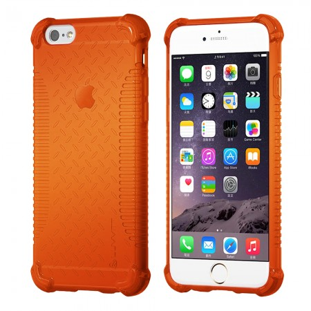 LUVVITT CLEAR GRIP iPhone 6S / 6 Case Soft TPU Rubber Back Cover - NEON Orange