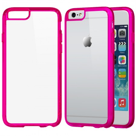 LUVVITT CLEARVIEW Case for iPhone 6 | Back Cover for iPhone 6 Transparent Pink