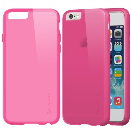 LUVVITT FROST iPhone 6/6s PLUS Case | Soft TPU Rubber Back Cover - Frosted Pink