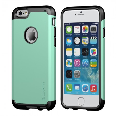 LUVVITT ULTRA ARMOR iPhone 6 / 6S Case | Dual Layer Back Cover - Mint